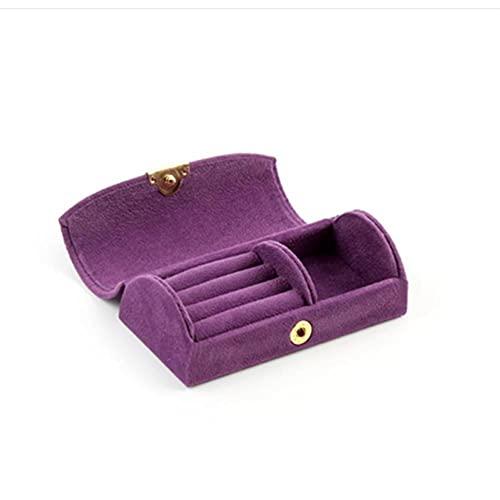 Bract Joyero de terciopelo para joyas, pulsera, pendientes, caja de almacenamiento, caja de viaje, joyero pequeño, joyero Arch