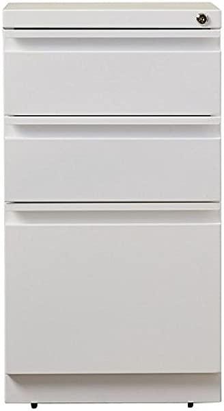 移动锁定文件存储柜与三个抽屉由耐用的钢铁结构制成隐藏脚轮完美的家庭办公室或办公室多种颜色专家指南