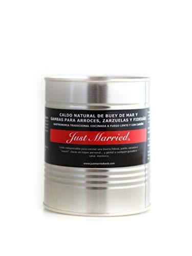 Just Married - Caldo natural de centollo, buey de mar y gambas para arroces