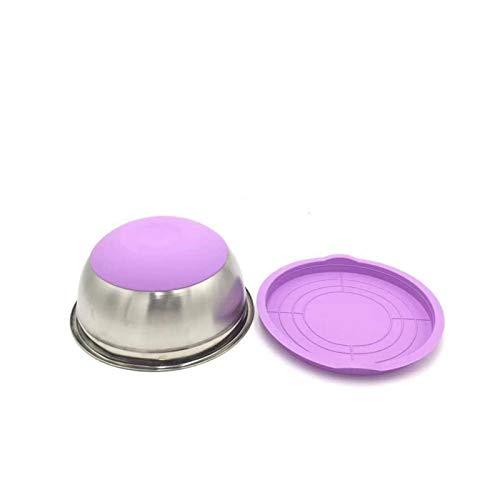 Cuencos de aperitivo,Ensaladeras 7 colores Cuenco mezclado de acero inoxidable con tapa antideslizante de silicona de silicona Almacenamiento de alimentos conjunto de tazón de fuente de cocina HANGET