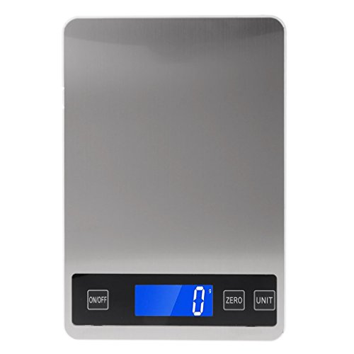 ZChun Digital Kitchen Scales 22lb / 10kg laden Touch Button Waterdichte kookschaal