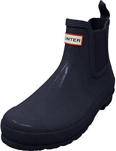 HUNTER WFS1043RGL-BLK Damen Sportiver Chelsea Boot aus Gummi Gummisohle Schlupf, Groesse 38, blau