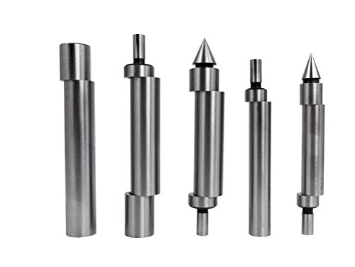 Taytools 466163 5 Piece Edge Center Finder Set with Single End, Double End and Cone Tips