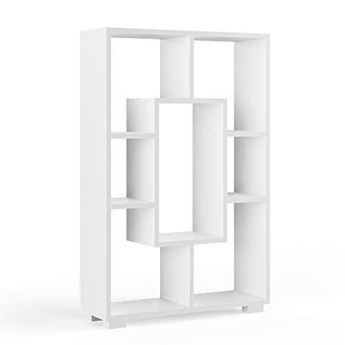 Vicco Raumteiler Domus offene Fächer weiß Bücherregal Standregal Aktenregal (7 Fächer)