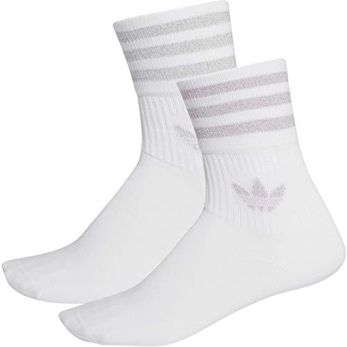 adidas Originals Socken Doppelpack MID CUT GLT SCK FL9686 Weiß Grau Rosa, Size:34-36