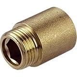 Extensión de válvula de radiador redonda de latón para extensión de boquilla de 1/2' BSP...
