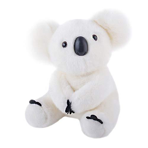JMFHCD Koala Bär Stoffspielzeug Plüschtier Kuscheltier Sehr kuschelig, Waschbar, für Kinder Jeglichen Alters Kissen Geburtstagsgeschenk, Weiß,28cm