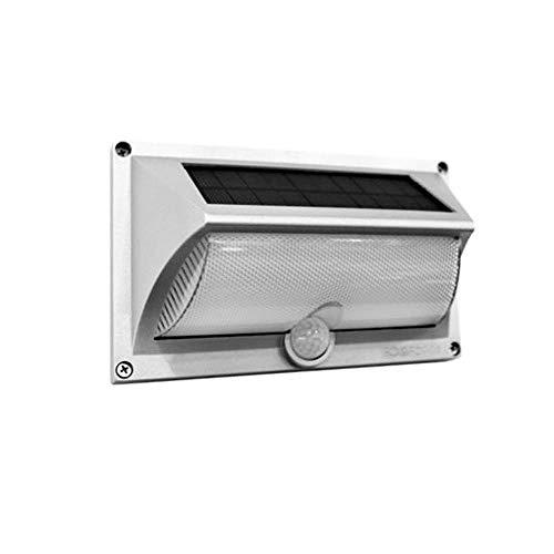 Luminária Arandela Solar LED SMD Branco Quente com Sensor de Presença