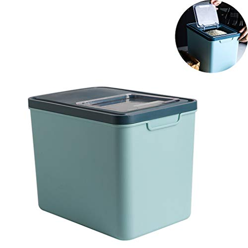 PLHMS Rice Storage Container, Airtight Cereal Containers Bin, 10KG Food Container Dispenser, Suitable for Rice Pet Food Grain, BPA-Free