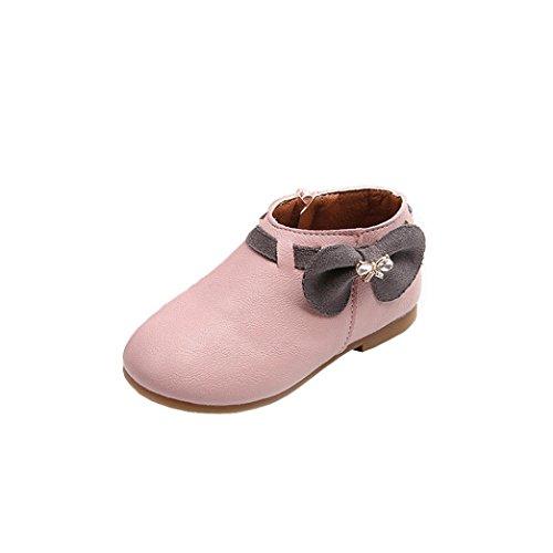 URSING Kleinkind Kinder Bowknot Sneaker Prinzessin Mädchen Elegante Stiefeletten Reißverschluss...