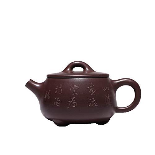 BaiJaC Tetera Estilo japonés, Tetera China zisha Olla Taza de té Original púrpura y Bola de Barro Tetera Hecha a Mano Zisha Tetera para el Color de la Fiesta de té: como se Muestra (Color : As Shown)