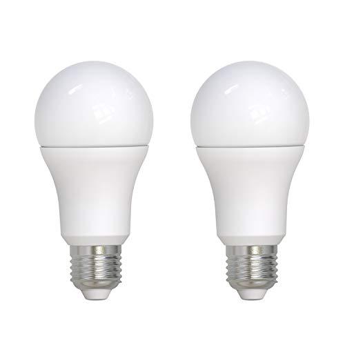 Umi by Amazon, lampadina LED A70 standard Edison E27, 14 W (equivalente 100 W), durata 15.000 ore, luce bianca calda (2.700 K), confezione da 2