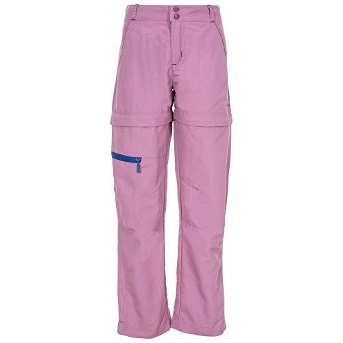 Trespass - Pantalon de randonnée Convertible Defender - Unisexe (9-10 Ans) (Mauve)
