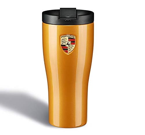 Porsche Thermal Flask Travel Thermos Mug in Golden Yellow