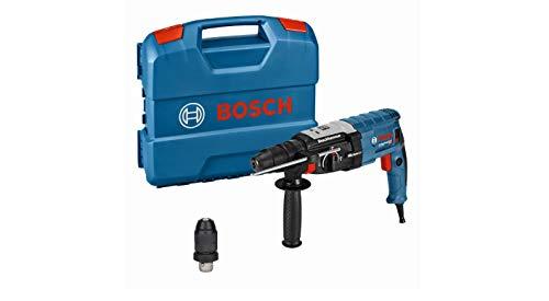 Bosch Professional GBH 2-28 F - Martillo perforador (3,2 J, máx. hormigón 28 mm, portabrocas SDS plus + cilíndrico, Kick Back Control, en maletín)