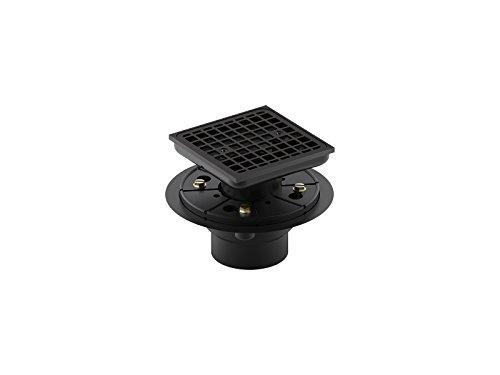Kohler 9136-BL Square Design Tile-in Shower Drain, Matte Black
