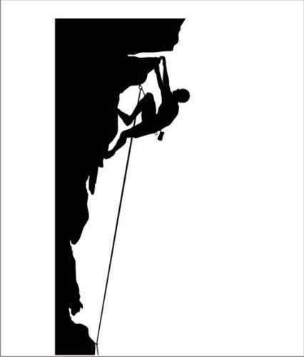 Rock Climbing Climber Vinyl Decal Sticker Cool iPad Mountain Climb...