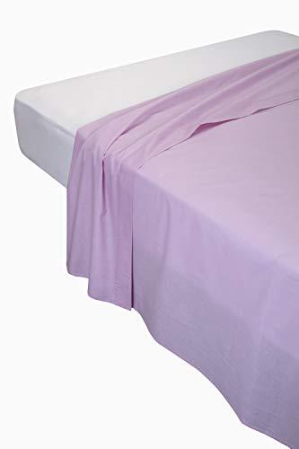 Pikolin Home - Sábana encimera, 100% algodón, 220 x 270 cm, cama 135/140, color salmón (Todas las medidas)