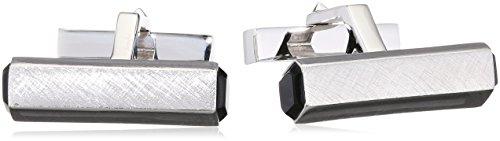 Baldessarini Herren-Manschettenknöpfe 925 Silber rhodiniert Onyx schwarz 2,3 cm - Y2126C/90/13/