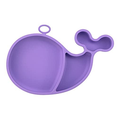 Platos De Silicona para Bebé, Plato Ballena Alimentación, Bebé Mantel Individual Lavavajillas Microondas Niños Bebé Plato Antideslizante