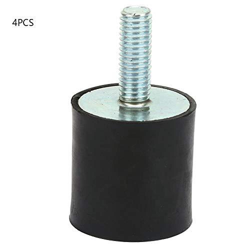 4個の防振装置、M8ゴム製防振マウントエアコンプレッサーボビンアイソレータダンパー、経年変化、熱、摩耗に強い(VD30*30 M8*23)