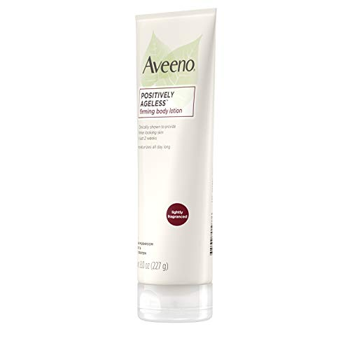 Aveeno Positively Ageless Anti-Aging Firming Body Lotion with Shiitake Mushroom complex & Wheat Protein, Lightweight & Non-Greasy Daily Moisturizing Lotion to help Improve Skin Elasticity & Texture, 8 oz (Pack of 3)