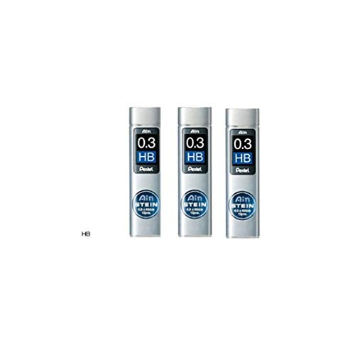 [Set de 3] Pentel portaminas Core de repuesto Ain Stein 0,3mm HB lleva 15× 3C273-hb desde Japón