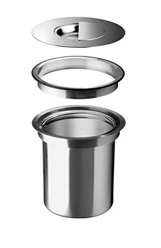 BLANCO Solon-IF Abfallsorter Abfalleimer Mülleimer Abfallsammler, Metall, Edelstahl, 20,35 x 23,6 cm Durchmesser