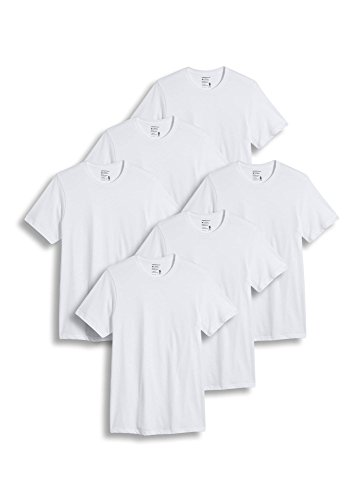 Jockey Men's T-Shirts Big & Tall Classic Crew Neck - 6 Pack, Diamond White, XLT