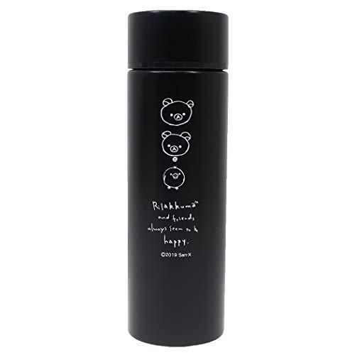 リラックマ[ポケット ステンレスボトル]ミニ 保温保冷 水筒/DRAWING ブラック サンエックス