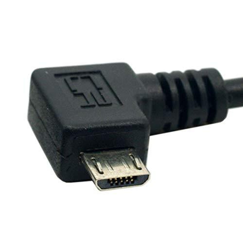 CY Verlängerungskabel, 90 Grad abgewinkelt, Micro USB 2.0, Stecker auf Buchse, 0,5 m