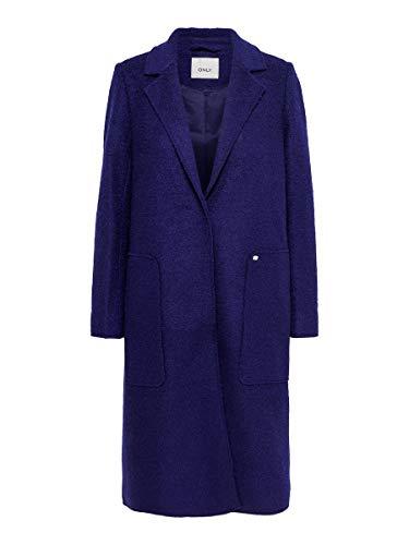 ONLY Damen ONLSTACY Long Wool Coat CC OTW Mantel, Evening Blue, S