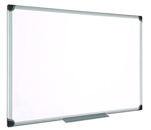 Bi-Office Maya W - Pizarra blanca magnetica, esmaltada, con marco de aluminio, 90 x 60 cm