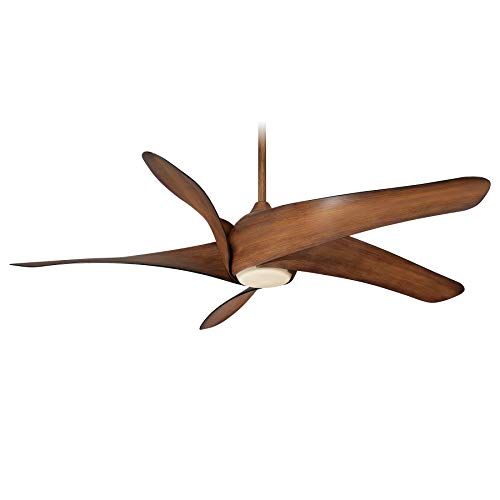 Minka-Aire F905L-DK Artemis XL5 62 Inch Ceiling Fan with LED Light and DC Motor in Distressed Koa Finish