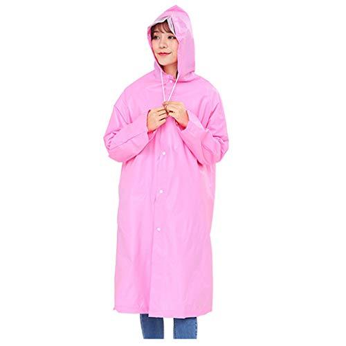 Moent Impermeable para niños, protección Unsex Solid EVA impermeable para adultos cubierta de saliva evita salpicaduras, para niños de Pascua, ropa de lluvia festival, regalos (rosa, L)