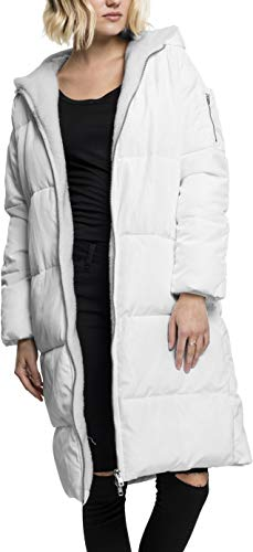 Urban Classics Ladies Oversized Hooded Puffer Coat Abrigo, Weiß (White/Offwhite 745), X-Large para Mujer