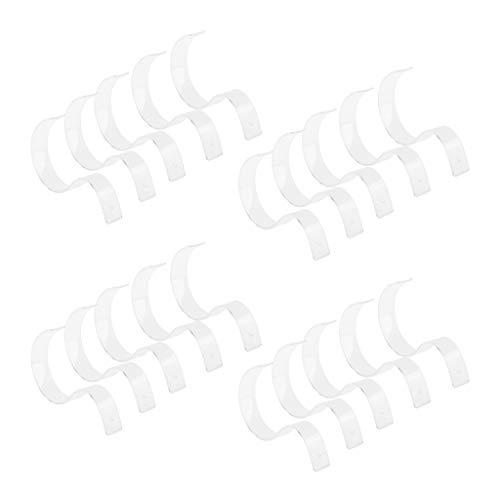 P Prettyia 20pcs PVC Gürtelständer Gürtel Aufsteller Halter Verkaufsständer Gürtel-Aufbewahrung Ständer Vitrine