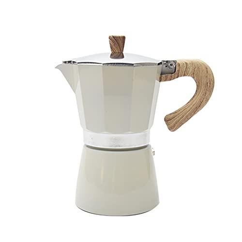 Stovetop Espresso Maker, 300ml Multifunction Aluminum Mocha Pot Stovetop Espresso Maker for Delicious Coffee, Portable Espresso Pot Easy To Use & Clean (White)
