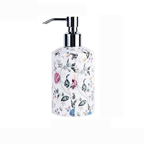 Dispensador de líquido Creativa desinfectante de manos en botella de cerámica brillante Manual de champú dispensador de jabón de baño ducha Botella Gel Loción Dispensador de jabón líquido para manos r
