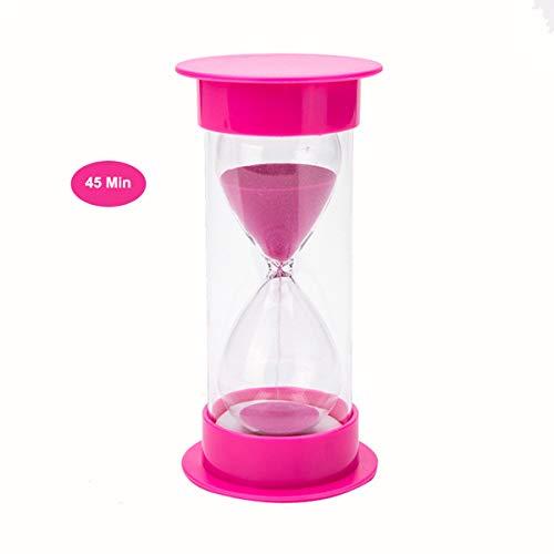 Best of Times, LLC 45 Minute Kids Homework Classroom Glass Sand Timer for Teaching Classroom(Pink Sand)