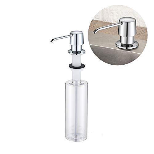 Lonheo Dispensador de jabón en encimera, Dosificador de Jabón con Botella de Plástico 500 ml, Bomba de Jabón moderno, dispensador para fregadero de cocina