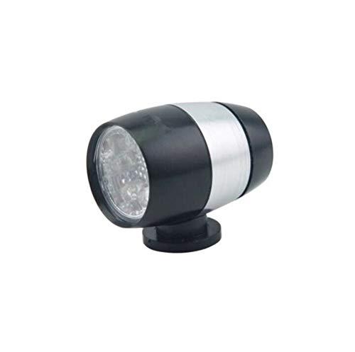 Luz de bicicletas 6 LED for bicicleta luz delantera trasera del faro de la linterna de la antorcha impermeable for las luces de carretera de montaña bicicleta de la bici Durable ( Color : Black )