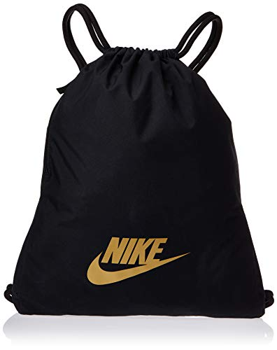 Nike Nike Heritage Gym Sack - 2.0, Black/Black/Metallic Gold, Misc
