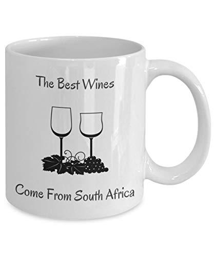N\A Puede ser Taza de café de Vino - Ojalá Esto Fuera Taza de café de Vino - Esto podría ser una Taza de Vino - Los Mejores vinos Vienen de Sudáfrica Taza de Vino