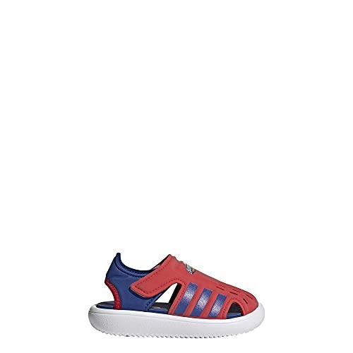 adidas,unisex-baby,Water Sandal,Vivid Red/Team Royal Blue/White,3K