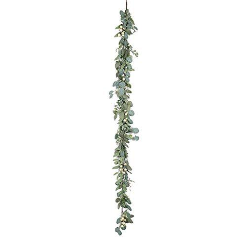 Fake Artificial Eucalyptus Decor Garland Wreath Greenery Leaf Vine Wedding