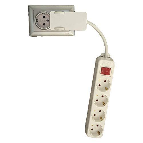 Contactdoos met korte kabel met tegoedstekker 3-delige verlichte schakelaar meervoudige stekkerdoos meubel achter platte stekkerdoos schakelbaar kinderbeveiliging