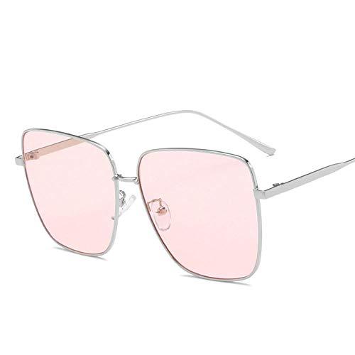 Gafas De Sol Gafas De Sol Vintage Hombres Gafas De Sol con Montura Metálica Cuadrada Espejo Piloto Gafas De Sol Retro Clásicas Gafas De Mujer-C5