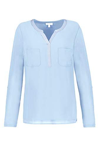 GINA LAURA Shirtbluse, Chiffon Mit Jersey Blusas, Color Azul Perso, M para Mujer
