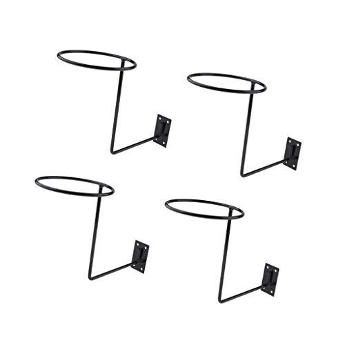 KESOTO 4 Unids Soporte para Casco en Pared Bastidor de Almacenamiento para Colgar Estantes de Auriculares